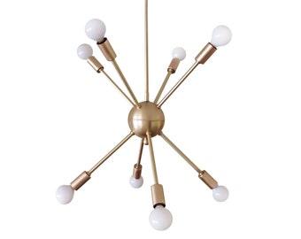 Atomic 8 arm Sputnik Starburst Modern Ceiling Light UL Listed