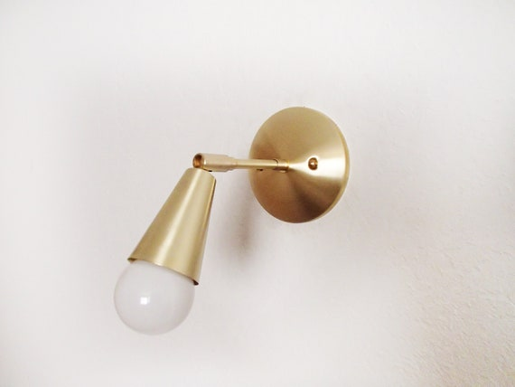 Mini pivot unique cône mur applique moderne minimaliste listé etsy