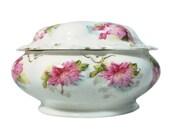 M Z Austria Porcelain Powder Trinket Vanity Dresser Jar