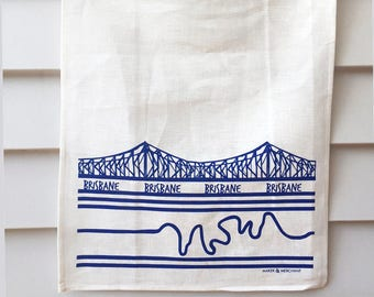 Brisbane tea towel