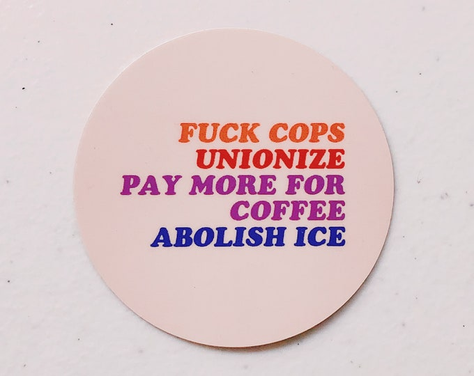 Four Statements Sticker
