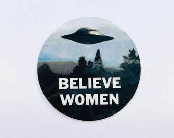 Believe Women Sticker