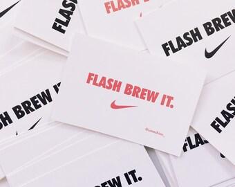 Flash Brew It Sticker