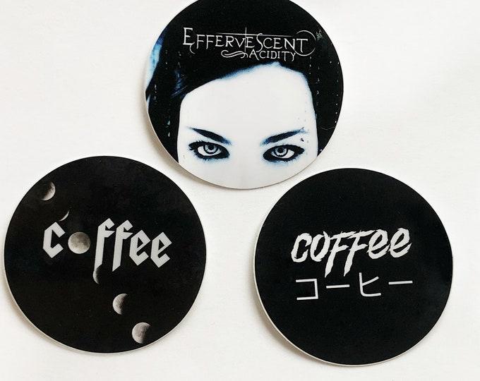 Goth Coffee Sticker Set
