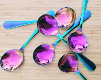 Rainbow Cupping Spoon (Six Pack)