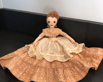Very Old Antique Bed Doll ~ Handmade