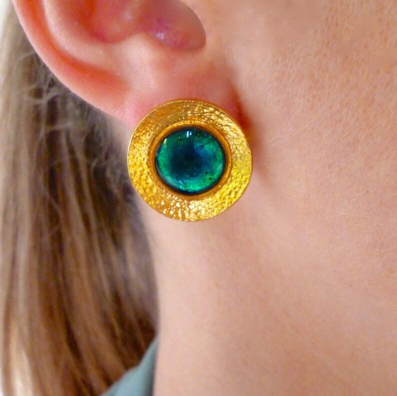 9777fc719 Unique Gifts For women Disc Earrings Stud Disc Earrings | Etsy