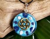 SPIRITUAL GROWTH Orgone Pendant – Lapis Lazuli, Amethyst and Howlite - Spiritual Journey, Meditation, Intuition, Psychic Skills - Medium