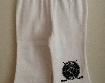 Hockey Rink Rat white 12-18 month baby pants