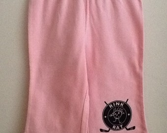 Hockey Rink Rat pink baby 12-18 month pants