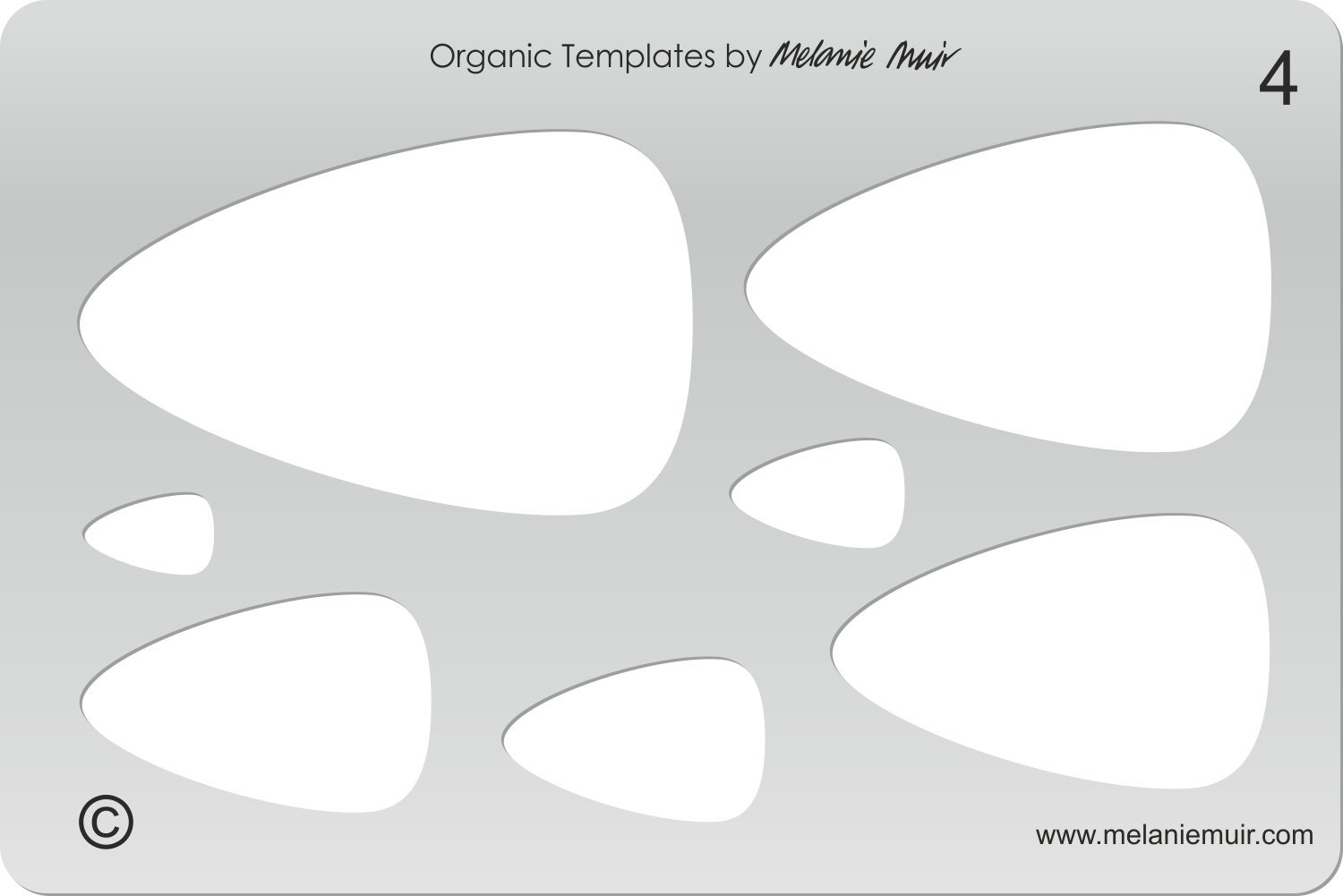no 4 clear acrylic template stencil for polymer metal etsy