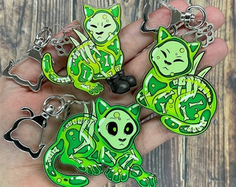 """Jellycat Double-Sided Acrylic Charms 2"""", 2.5"""""""