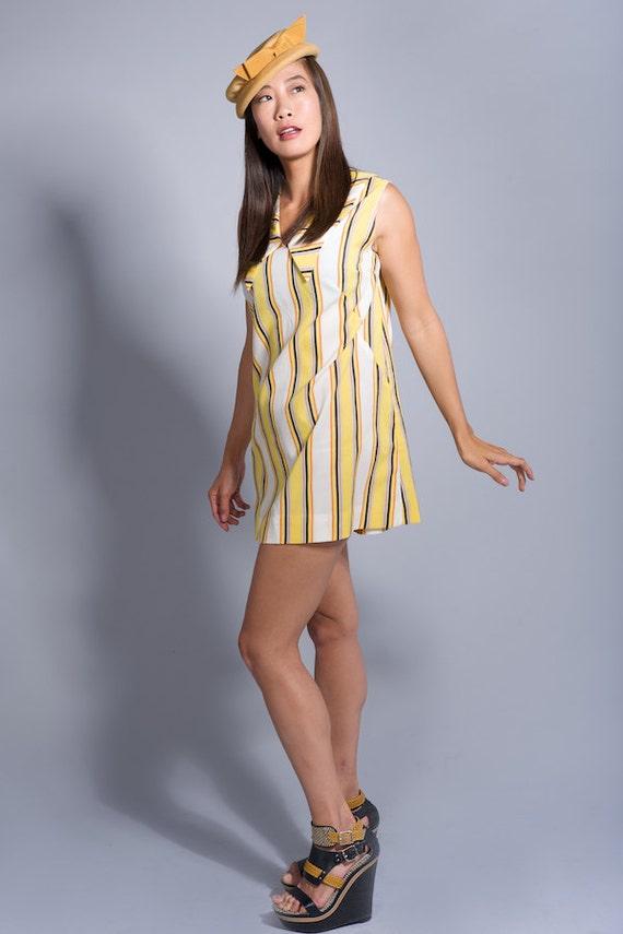 Mini Striped Vintage Mod Style Dress