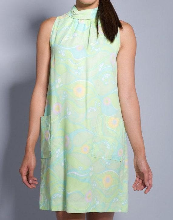 1960's Pastel Psychedelic Mod Dress
