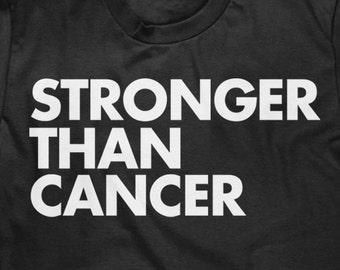 a7fd9793 Cancer Survivor Tee Shirt - Stronger Than Cancer - Unisex T Shirt - Item  2067