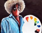 Deadpool Bob Ross- Marker...