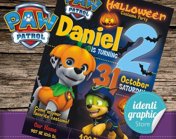 Paw Patrol Birthday Invitations Kids Party Printables