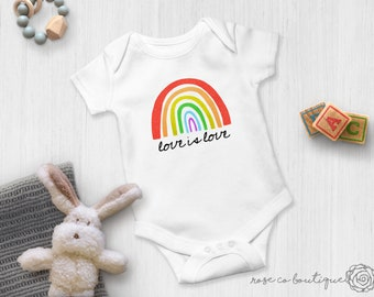Rainbow Peace Sign LGBT Unisex Baby Bodysuit Onesie Baby Clothes