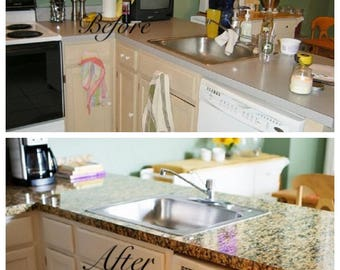 Merveilleux Decorative Counter Top Cover Instant Peel And Stick Granite Butterfly Gold  Film Contact Paper CLOSEOUT