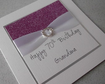 Handmade 60th Birthday Card Mum Personalised 18th 21st Etsy