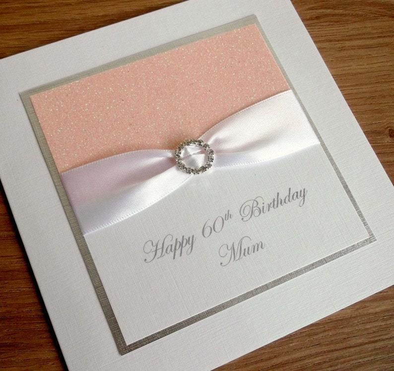 Handmade 60th Birthday Card Mum Personalised 18th 21st