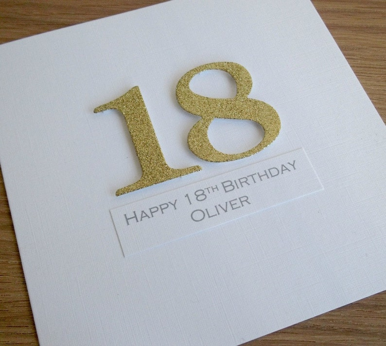 Handmade 18th Birthday Card Personalized Can Be Any Age Or