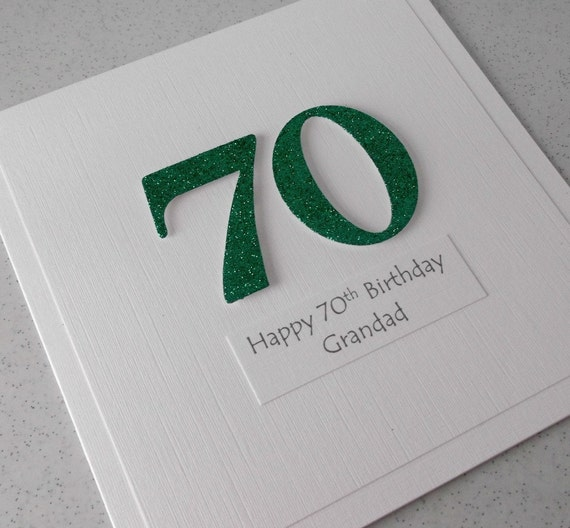 Handmade 70th Birthday Card Personalized Can Be Any Age
