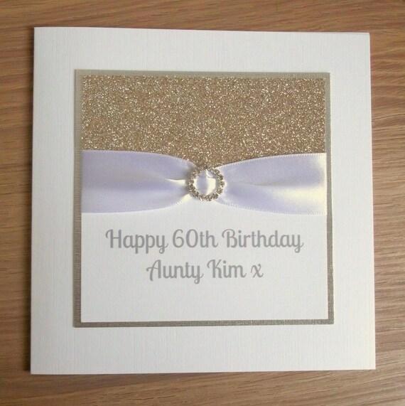Handmade 60th Birthday Card Personalised 18th 21st 30th Etsy