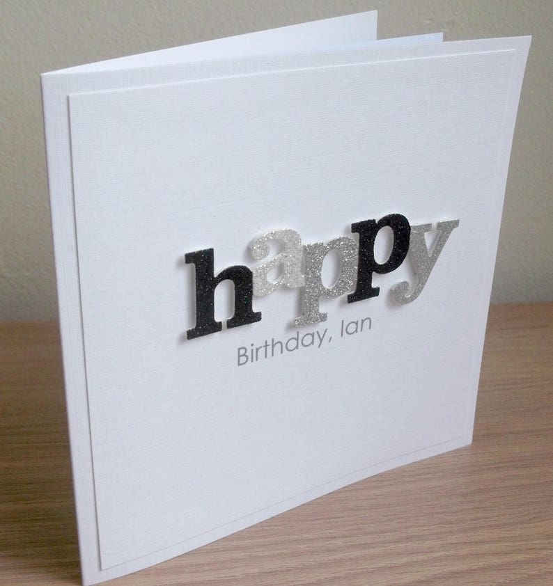 Handmade Birthday Card Personalized Any Age And Or Name