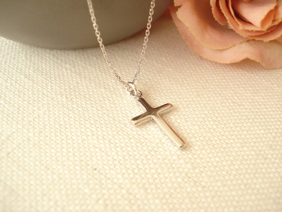 Jewels Obsession Cross Necklace Rhodium-plated 925 Silver Heart /& Cross Pendant with 24 Necklace