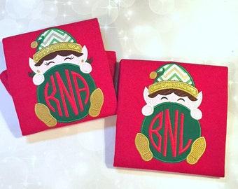 Boys Christmas Shirt - Embroidered Elf Shirt - Personalized Christmas Shirt - Kids Christmas tee -Elf Shirt -Personalized Christmas Bodysuit