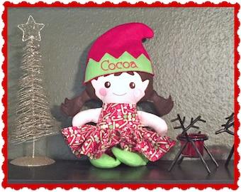 Elf Dolls - Personalized Elves - Toy  Elf - Christmas Elves  - Girl Elf - Boy Elf - Christmas Gift - Stuffed animal - Elves - Soft Dolls