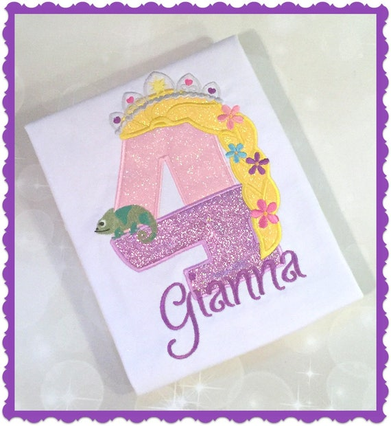 Princess Birthday Shirt Rapunzel Tangled