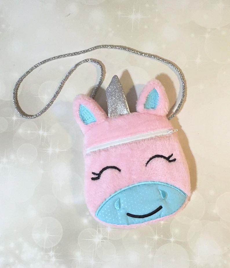 c428f7772c89 Unicorn Purse Little girl Unicorn bag Embroidered Zipper