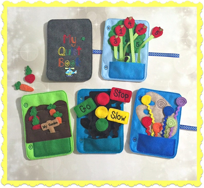 Quiet Book  starter kit  Busy Book  Pre School Learning  image 0
