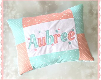 Custom Personalized Pillow - Kids pillow - Applique Pillow - Embroidered Pillow - Baby Pillow - Baby Shower Gift - Birthday Gift- New Baby