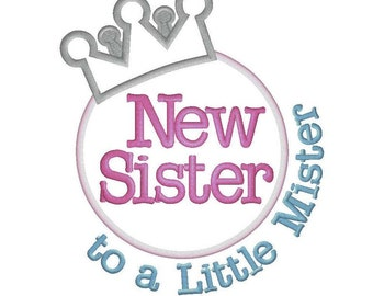 New Sister to a Little Mister Shirt - Promoted to Big Sister Shirt, bodysuit - big sister shirt - sibling shirt -
