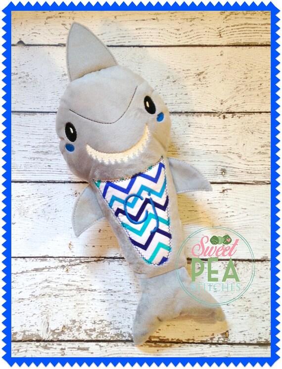 Personalisierte Hai Gefüllte Tier Monogramm Hai Plüsch   Etsy