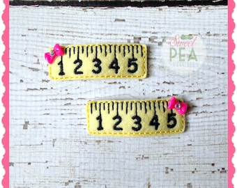 Ruler Hair Clips - Back to School Hair Accessories -