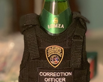 CORRECTION OFFICER Tactical Vest Beverage Insulator ! Customized for any department !