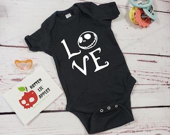 caa7a46f0 NBC Love, onesie, skulls, alternative baby clothes, goth baby clothes, baby  goth, free shipping, black onesie
