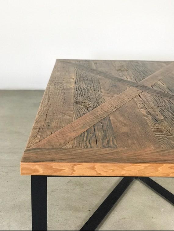 Miraculous Custom Handmade Rustic Modern Farmhouse Reclaimed Wood Metal Coffee Table Machost Co Dining Chair Design Ideas Machostcouk