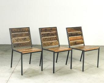 Custom Handmade Interior Exterior Reclaimed Wood Rustic Modern Dining   Counter   Bar Chair Restaurant / Hospitality / Commercial Industrial