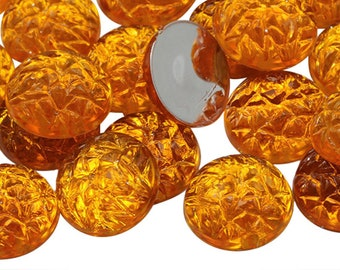 Large Vintage Plastic Amber Topaz Scarab Cabochons cab820C