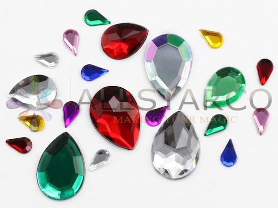 30g-1000 pcs Assorted Acrylic Gems Stick On Embellishment DIY Card Making Craft