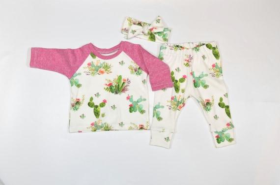 Probaby Toddler Baby Cactus Clothes Long Sleeve Romper Llama Print Bodysuit Baby Onesise