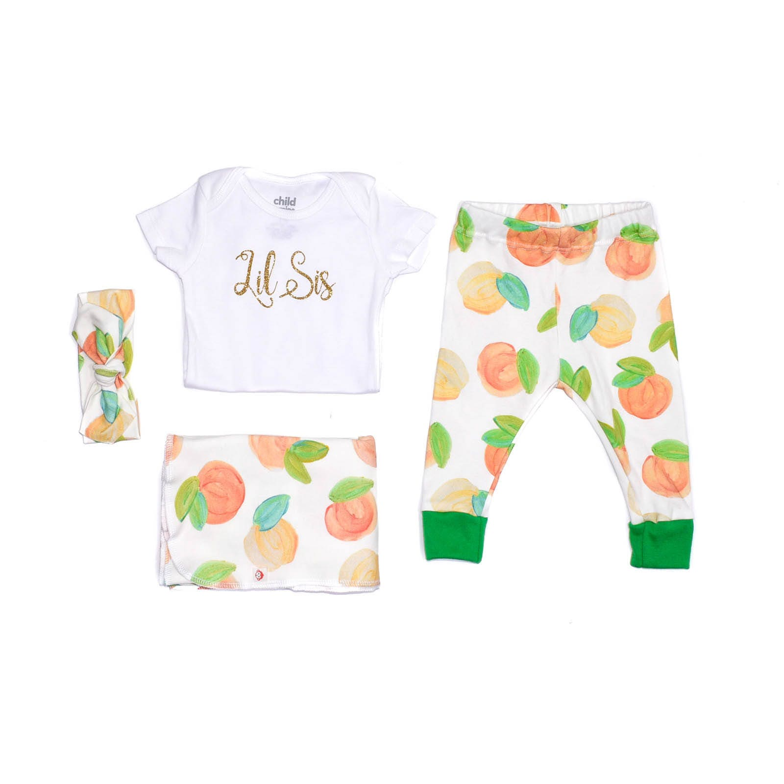 Sweet Peach Organic Newborn Layette Girl Take Home Outft | Etsy