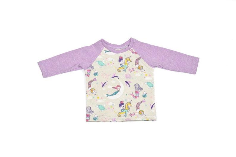 Mermaid Top Purple Mermaid Raglan Shirt Baby Shirt Mermaid Toddler Shirt Organic Outfit Preemie Raglan Shirt Child Organic Clothes