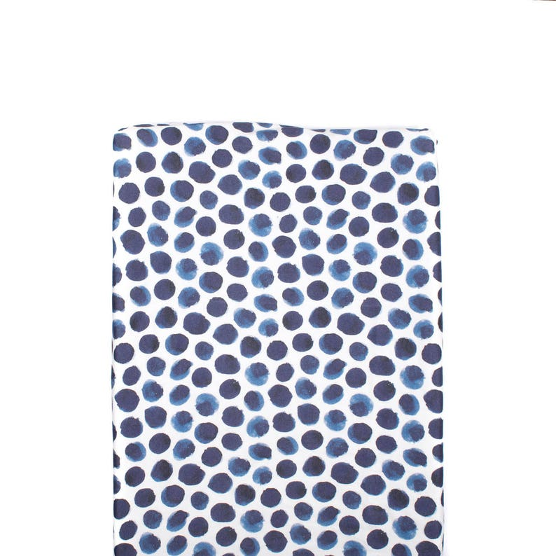 Indigo Watercolor Dots Changing Pad Cover Changing Pad Cover Watercolor Navy Dots Changing Pad Cover Minky Changing Pad Modern Nursery
