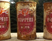 Old Ruppert Knickerbocker flat top beer cans